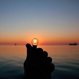 picsart sea reflection sunset
