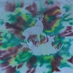 camouflage stencil hunting handmade tshirt