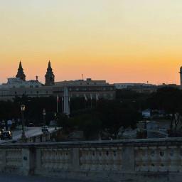 malta valletta sunset evening skyline