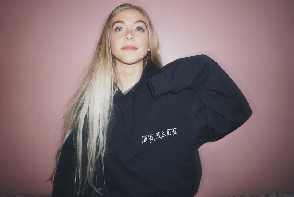 #FreeToEdit FEMALE embroidered hoodie dropping on the site tomorrow ➿🔜🔛🔝