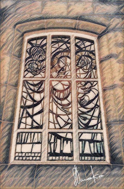 photography vintage stainedglass cathedralchurchwindow pencilart