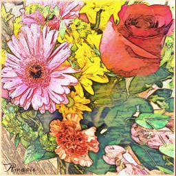 sketcheffect manyeffects bouquet flowers pretty