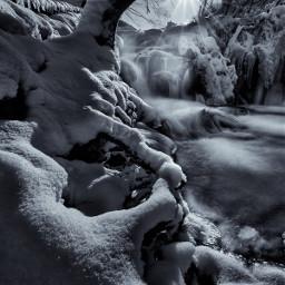 winter blackandwhite bw snow water