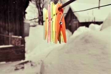 freetoedit winter clothespins colorful landscape