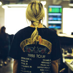freetoedit gunsnroses girl blonde tshirtart