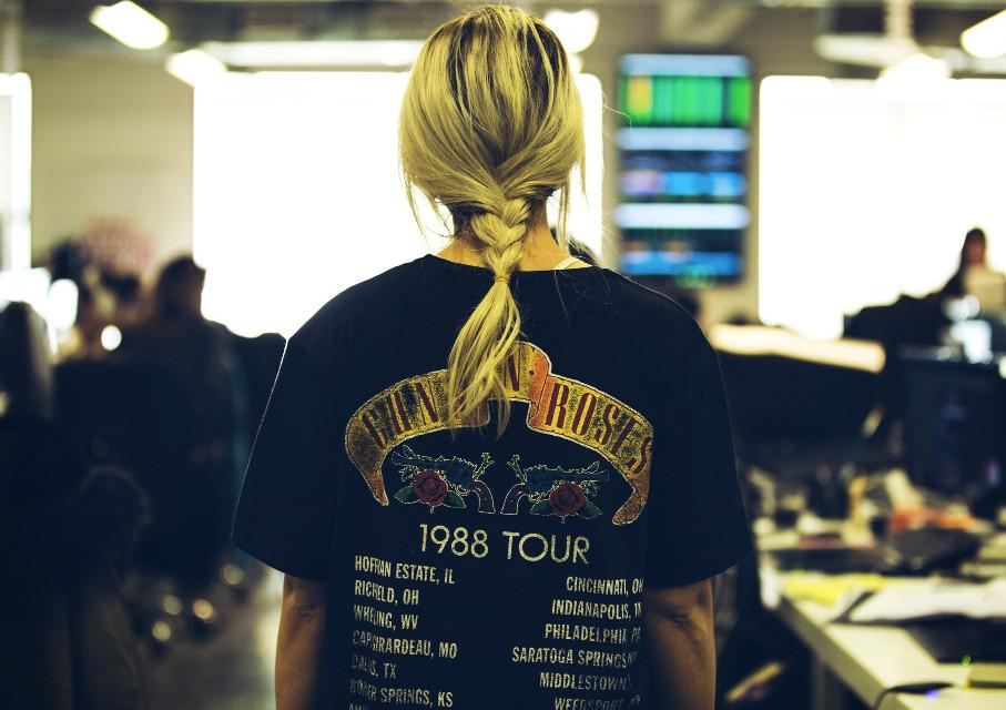 #FreeToEdit #gunsnroses #girl #blonde #tshirtart