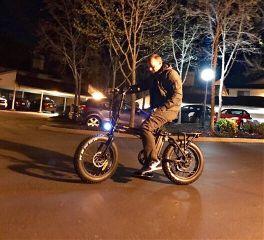 california night photography nighttime bike