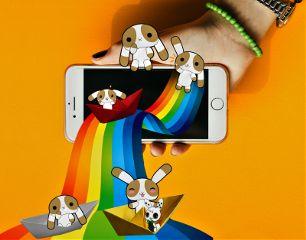 freetoedit dailyremix rabbits iphone iphoneremix