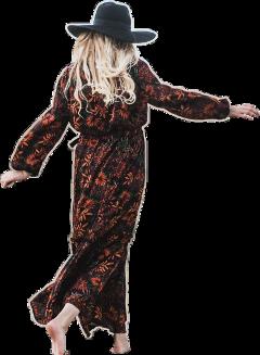 walk blondhair blackhat