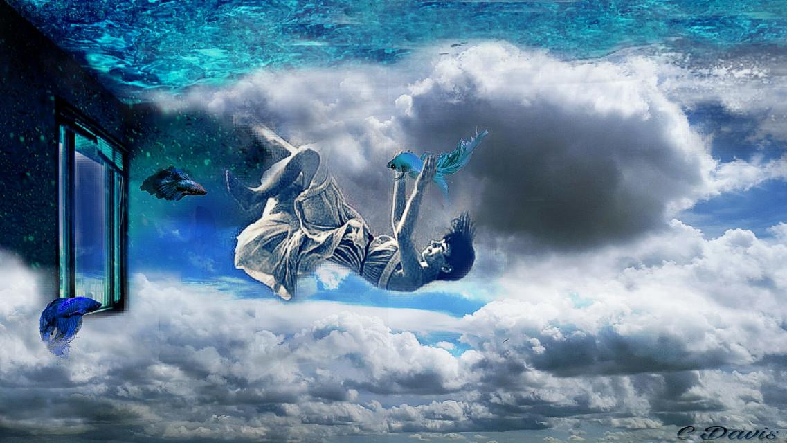 #FreeToEdit #remix #sky #sea #surreal #myedit 🐠